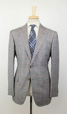 New PAL ZILERI MAINLINE Gray Wool Blend 2 Button Sport Coat 50/40R Drop 8 $1495