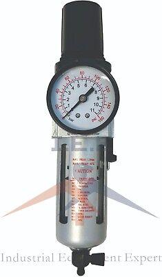 Air Compressor Water Filter W Regulator Gauge Water Trap 38 Npt Air Tools