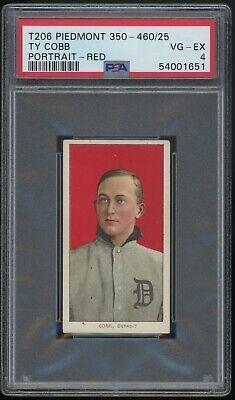 "1909-11 T206 PIEDMONT 350-460/25 TY COBB RED PORTRAIT PSA 4 ""HIGH END EXAMPLE"""