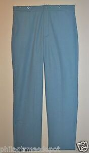Trousers Sky Blue - 100% Wool - (Even Sizes 30-50) - Civil War