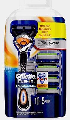 5x Gillette Fusion ProGlide Flexball Rasierklingen+ Rasierer in OVP  +NEU - 5 Klingen