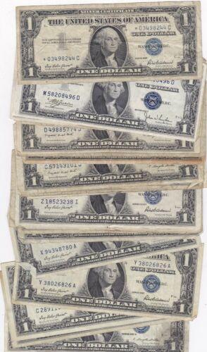 KAPPYSCOINS W5010 BUNDLE OF 25  $1.00  SILVER CERTIFICATES CIRC MIXED SERIES