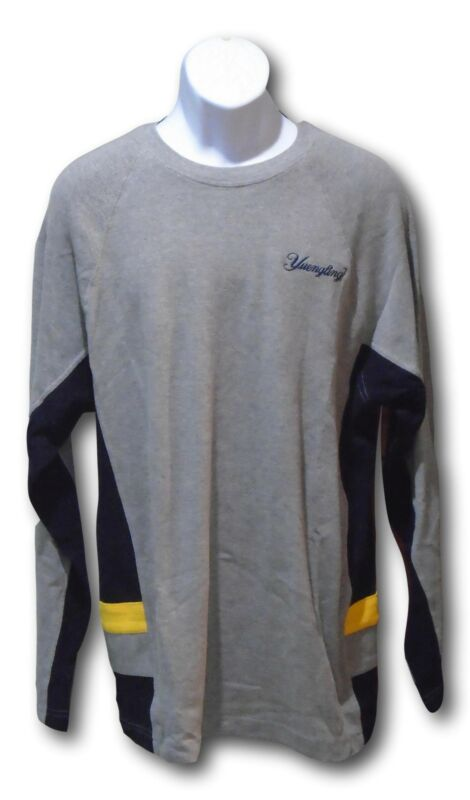 Yuengling Heavy Long Sleeve T Shirt Gray with Black & Yellow Trim - Size XL