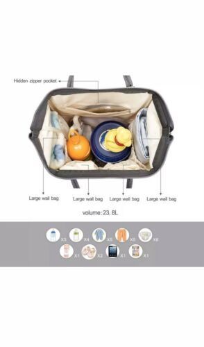 Pipi Bear Diaper Bag Backpack Travel Large Spacious Tote Shoulder Organizer - $23.00