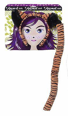 Kit Kat Costume (Tiger Ears Tail Costume Kit Headband Cosplay Adult Child Cat Orange Black)