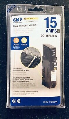 Square D Qo 15 Amp Single-pole Plug-on Arc Fault Qo115pcafi Qo115pcafic New