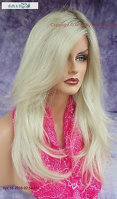 LACE FRONT MONOTOP DESIGNER WIG  *ROOTED BLOND ✮ BLOND BOMBSHELL HEADS WILL - Blonde Bombshell Wig