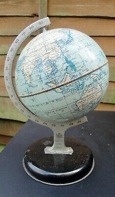 Vintage Chad Valley Tin Tinplate 9 inch World Globe 10174