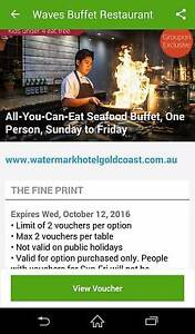 2 x groupon waves seafood buffet vouchers...watermark hotel gold Thornton Maitland Area Preview