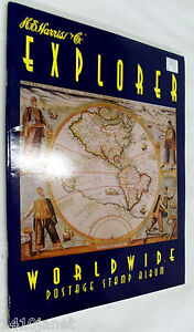HE-Harris-Explorer-Worldwide-Postage-Stamp-Album-Collecting-for-Beginners-NEW