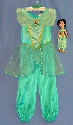 Disney Princess Jasmine costume girls 4-6-PLUSH DOLL-tiara-necklace-Aladdin LOT - Princess Jasmine Tiara