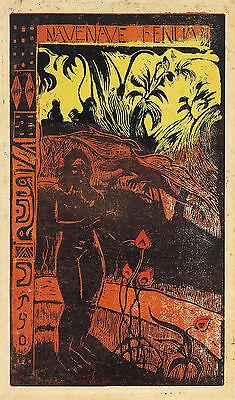 Gauguin Woodcuts: Wonderful Earth - Fine Art Print
