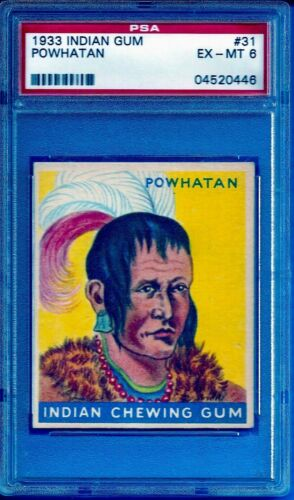 1933 R73 Indian Gum #31 Powhatan (48 Blue) Psa 6