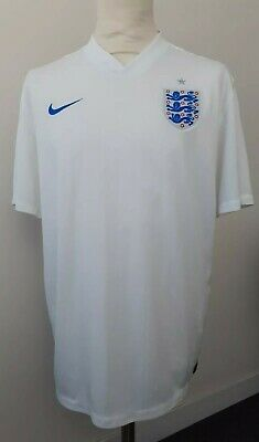 XL, NIKE DRI-FIT, ENGLAND White Football Training Top, Three Lions Team T-Shirt!