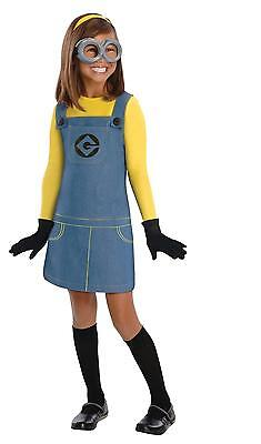 DESPICABLE ME 2 FEMALE MINION CHILD HALLOWEEN COSTUME GIRL'S SIZE SMALL 4-6 - Girl Minion Halloween Costume