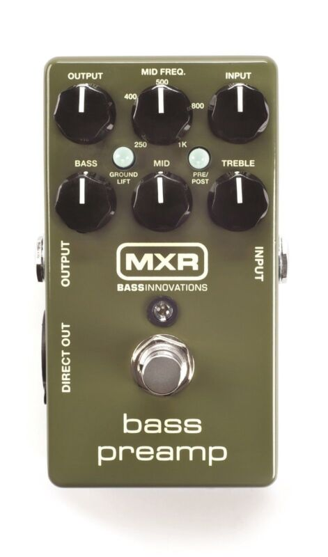 Used MXR M81 Bass PreAmp Bass Guitar Effects Pedal Pre Amp
