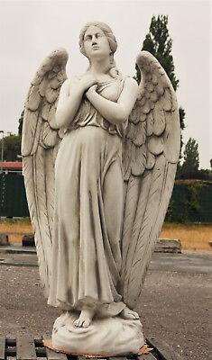 ENGEL, HIMMELSBOTE SKULPTUR aus STEINGUSS, STEINFIGUR, FROSTFEST, NEU ST-101198