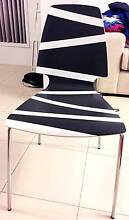 5x Dining Chairs - Black/White Design - Almost Brand New $40 Each Marsfield Ryde Area Preview