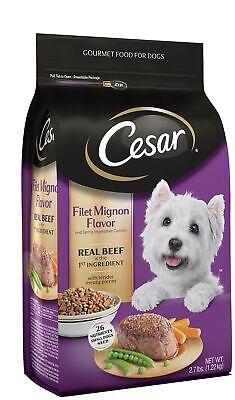 Cesar Gourmet Dog Food, Filet Mignon Flavor & Spring Vegetables Garnish 2.7 lbs Filet Mignon Flavor