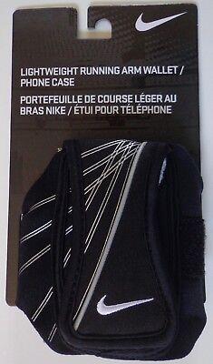 Nike Lightweight Running Arm Wallet Schwarz Weiß Grau Erwachsene Osfm Nike Running Wallet