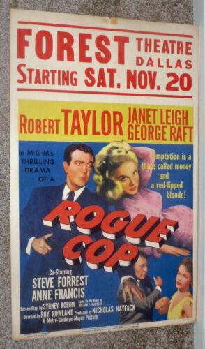ROGUE COP/FOREST THEATRE DALLAS TEXAS original 1954 movie poster ROBERT TAYLOR