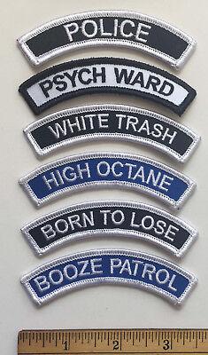 Psych Ward Costume (PSYCH WARD Shoulder Rocker PATCH punk costume biker psychobilly rockabilly)