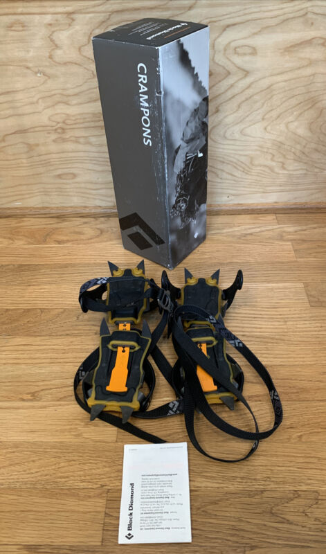 Black Diamond Anodized Contact Strap Crampons-BD400506-Ships FAST!