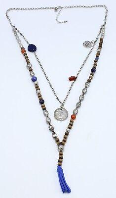 (New Multi Strand Gypsy Boho Tassel Pendant Necklace #N1027)