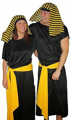 Deluxe Couples Egyptian Cleopatra Pharaoh & King Tutankhamun Fancy Dress Costume - Halloween Couple Costumes Cleopatra
