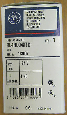 Ge Rl4rd040td Relay With 24 Volt Dc Coil