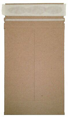 50 6 X 8 No Bend Mailers Kraft Self Seal Photo Document Flat Rigid Envelope