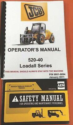 Jcb 520-40 Series Loadall Operators Manual - 9801-9094