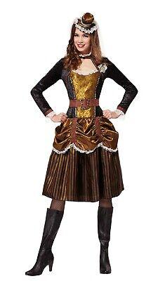 Ladies Fancy Dress Steampunk Lady Costume Victorian 20s Sci-Fi Outfit (Sci Fi Fancy Dress Kostüm)
