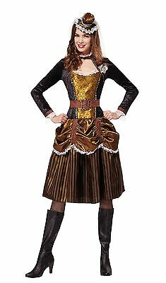 Female Steampunk Outfits (Steampunk Lady Female Adult Fancy Dress Party)