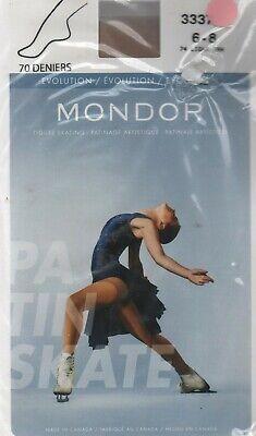 Mondor 3337 Black Footed Evolution Figure Skating Tights 12-14