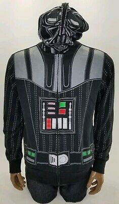 Star Wars Mens Mad Engine Face Mask Black Hoodie Costume Darth Vader Zip Up  - Star Wars Costume Hoodie