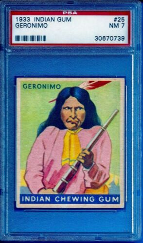 1933 R73 Indian Gum #25 Geronimo (48 Blue) Psa 7