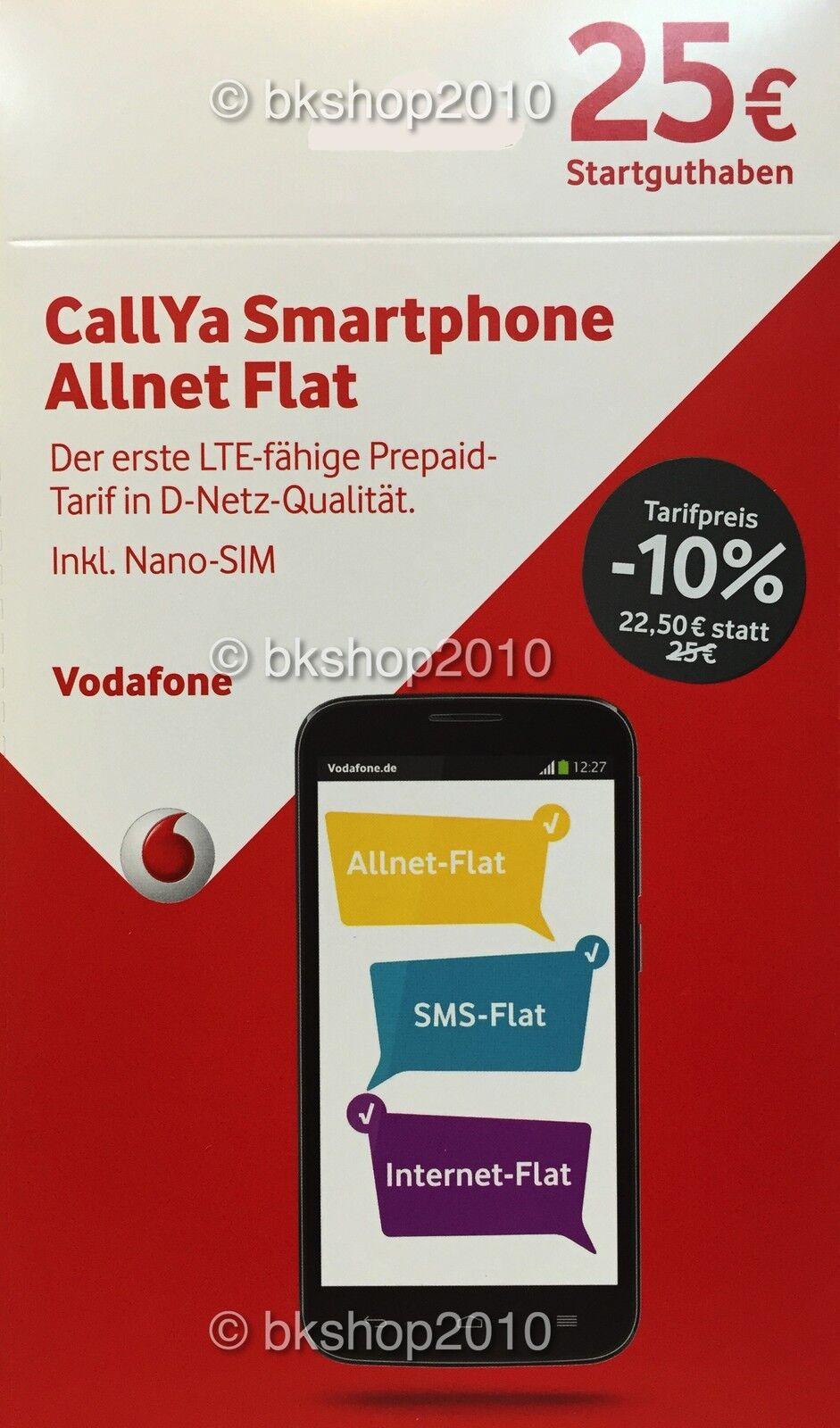 Nano Sim Karte Vodafone.купить Vodafone Callya Allnet Flat Prepaid Nano Karte 25