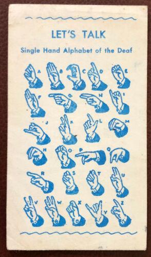 Deaf Mute Merry Christmas Alphabet Card; Donation Request