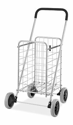 Whitmor Utility Shopping Cart - Durable Folding Design For Easy Storage