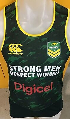 Australian kangaroos player issue training Singlet qld nsw origin jersey broncos