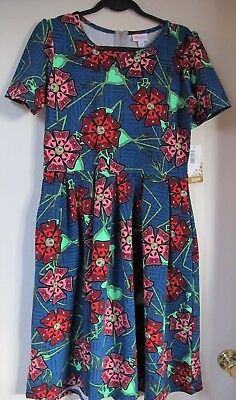 L LuLaRoe Amelia Disney Jack Skellington Flowers Nightmare Blue Red Pink Green for sale  Shipping to Canada