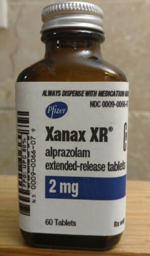 Vintage Medicine Hand Crafted Bottle, XANAX XR  2 mg. Empty