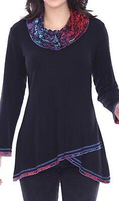 NEW Parsley & Sage Plus Fall Winter Artsy Harper Cowl Tunic Blouse Top Shirt 3X