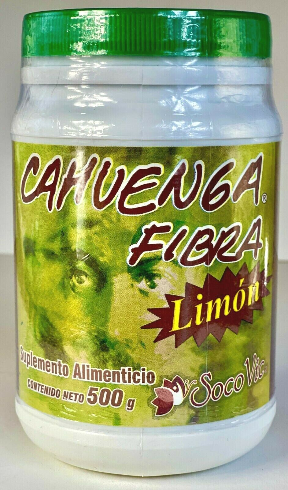Cahuenga Fiber 500g./Fibra Mexicana Sabor Limon Suplemento Alimenticio