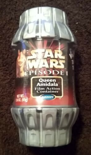 Star Wars Ep 1 1999 Action Candy Container Queen Amidala Wonka Tiny Tarts SEALED