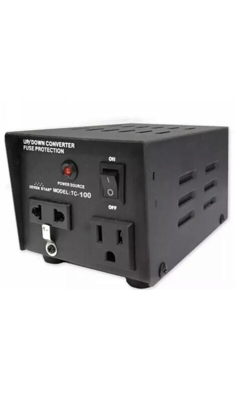 Seven Star TC100 100 Watt 110 220 Volt Voltage Converter 110v 220v Power Source