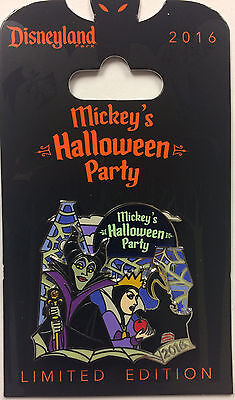 Disney Parks Mickey's Halloween Party Villains Evil Queen & Maleficent LE Pin ()