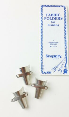 Vintage Simplicity Metal Fabric Folders For Making Braided Rugs Braiding Tools