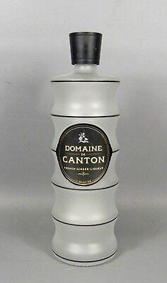 Domaine de Canton French Ginger Liqueur Empty 1L Bottle